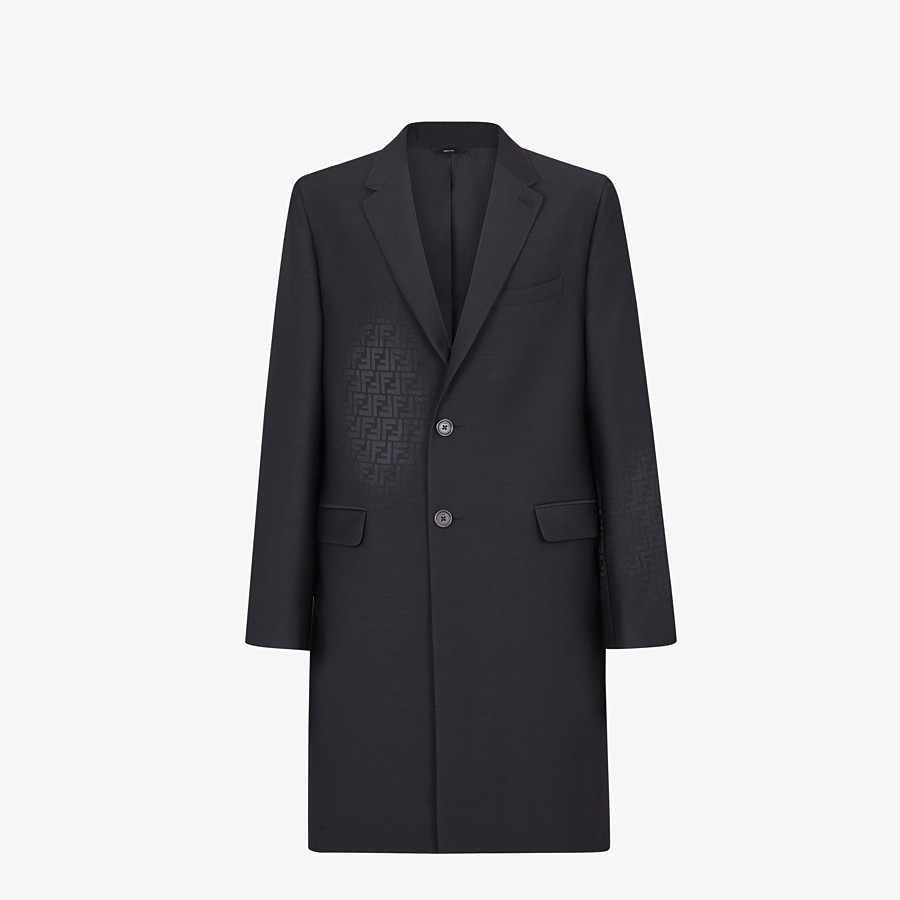 FENDI COAT - Black wool coat - view 1 detail