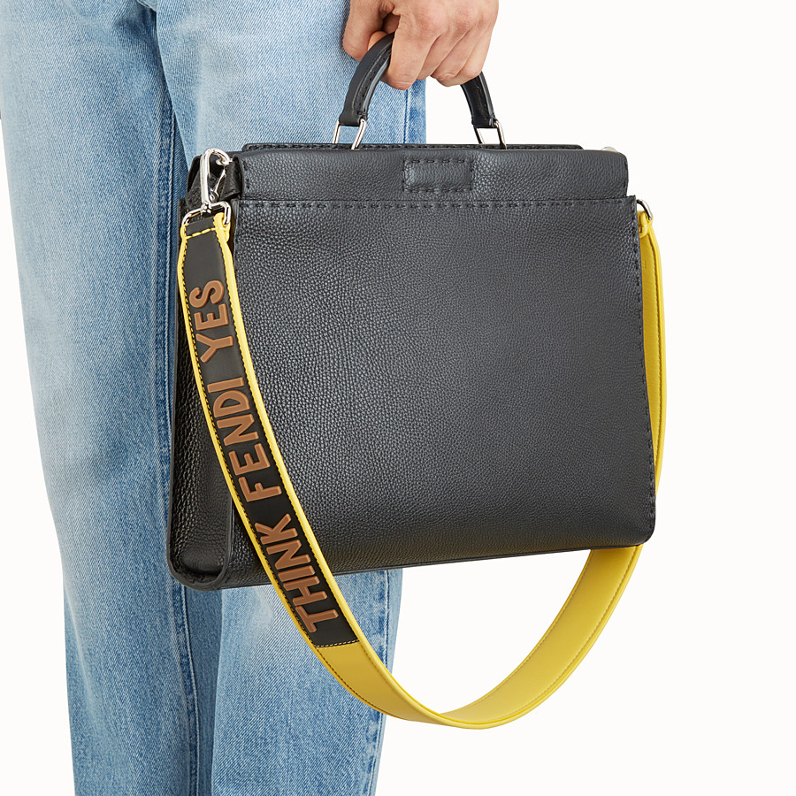 FENDI STRAP YOU - Yellow leather shoulder strap - view 2 detail