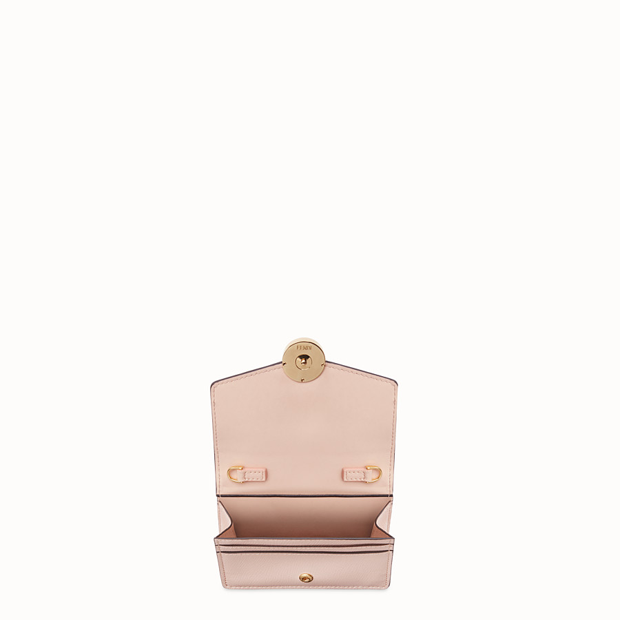 FENDI WALLET ON CHAIN - Pink leather mini-bag - view 4 detail