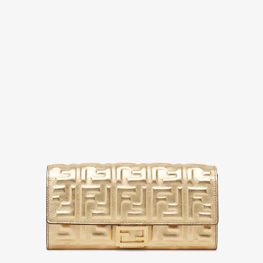 FENDI CONTINENTAL - Golden leather wallet - view 1 detail