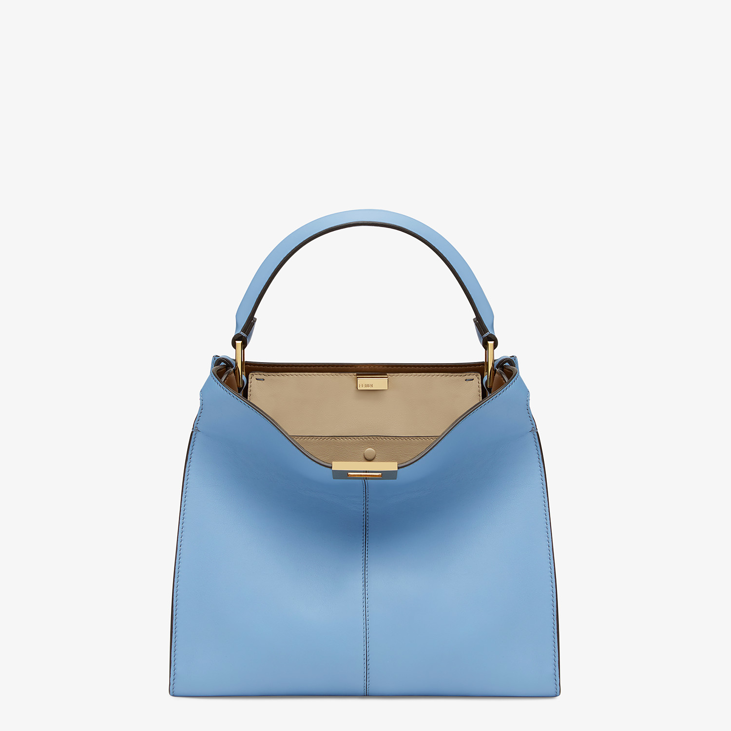 FENDI PEEKABOO X-LITE MEDIUM - Pale blue leather bag - view 3 detail