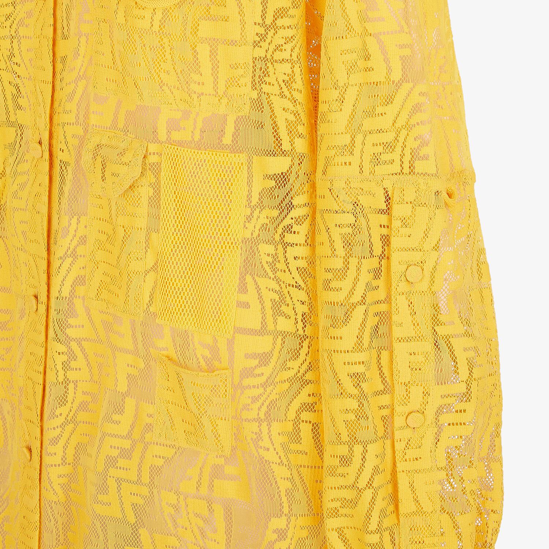 FENDI DRESS - Yellow lace dress - view 3 detail