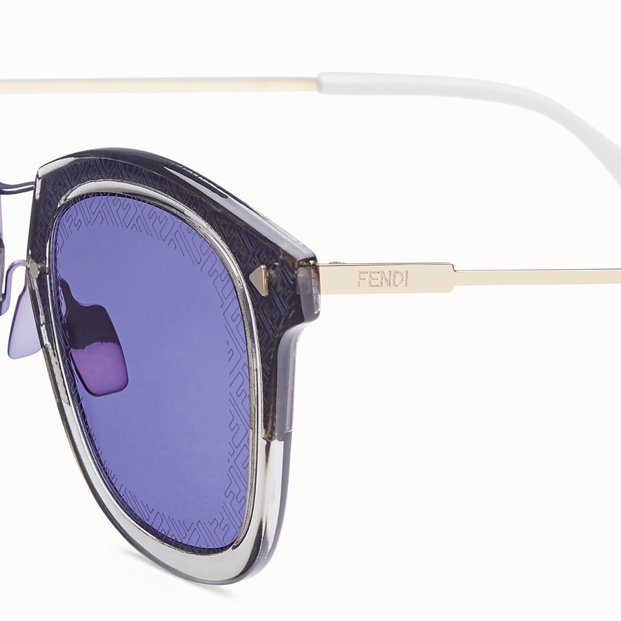 FENDI FF - Grey and gold sunglasses - view 3 detail