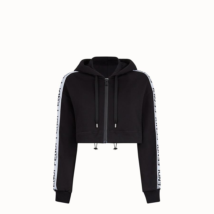 FENDI FELPA - Felpa in jersey nero - vista 1 dettaglio