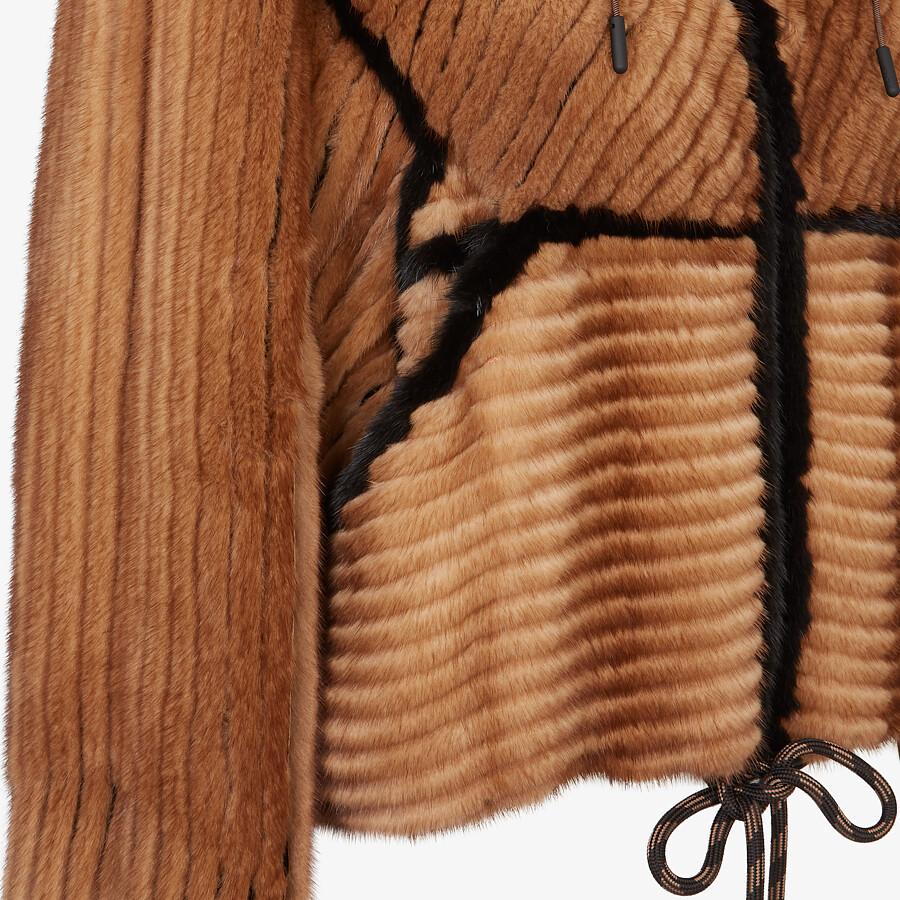 FENDI JACKET - Brown mink jacket - view 3 detail