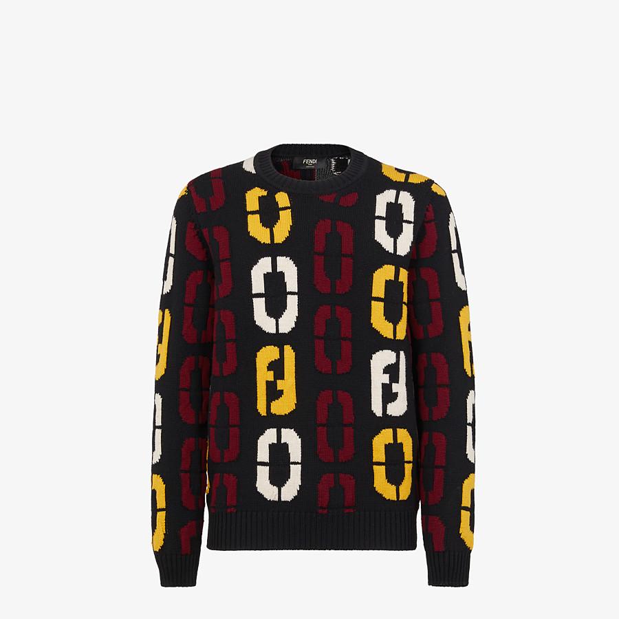FENDI SWEATER - Black wool sweater - view 1 detail