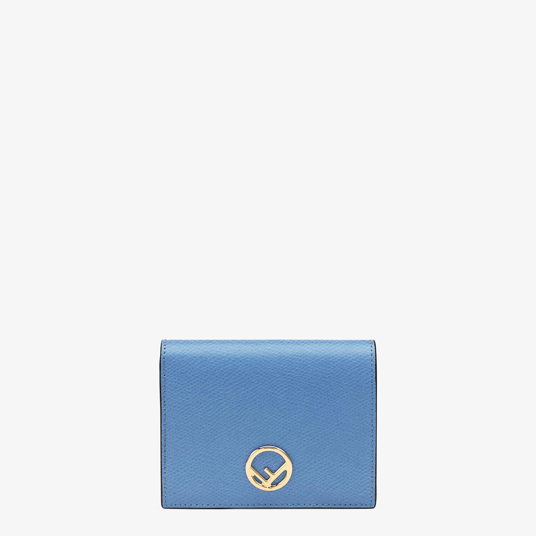 FENDI BIFOLD - Light blue leather compact wallet - view 1 detail