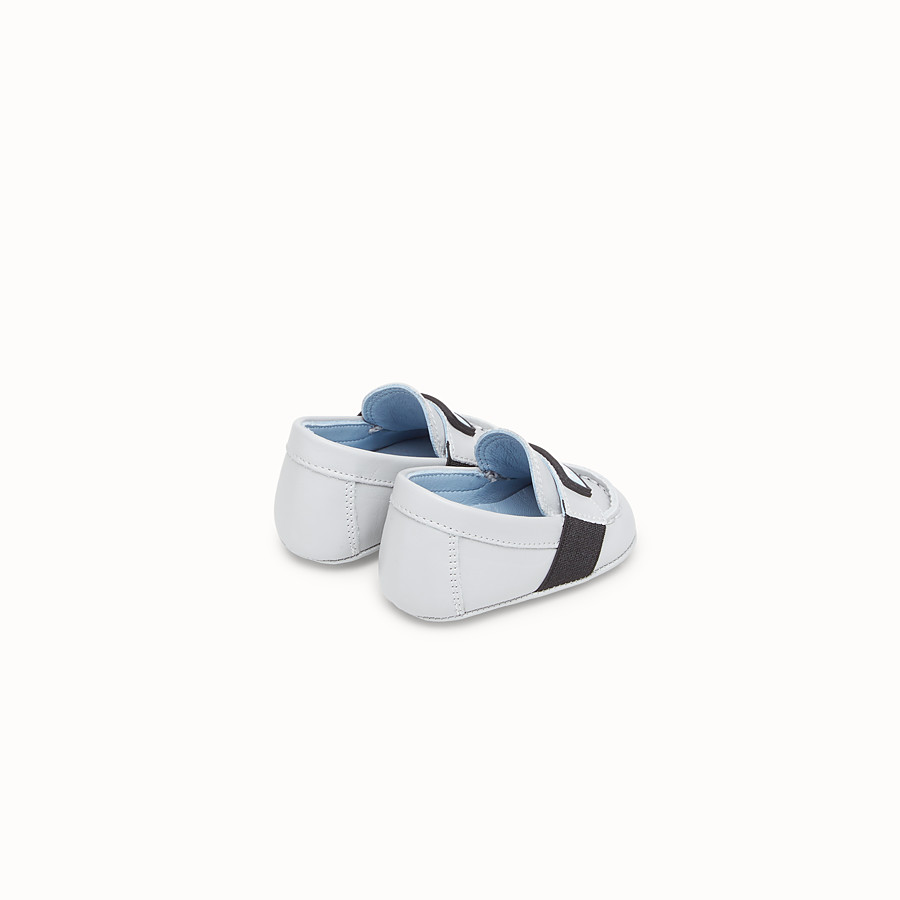 FENDI LOAFER - Loafer aus Leder in Grau - view 2 detail