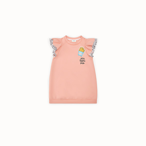 FENDI SWEATSHIRT - Pink and multicolor scuba dress - view 1 small thumbnail