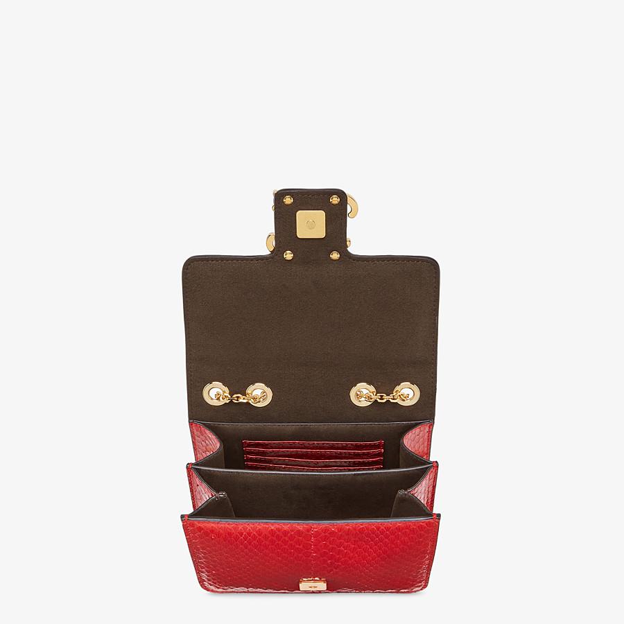 FENDI KARLIGRAPHY - Bag in red elaphe - view 5 detail