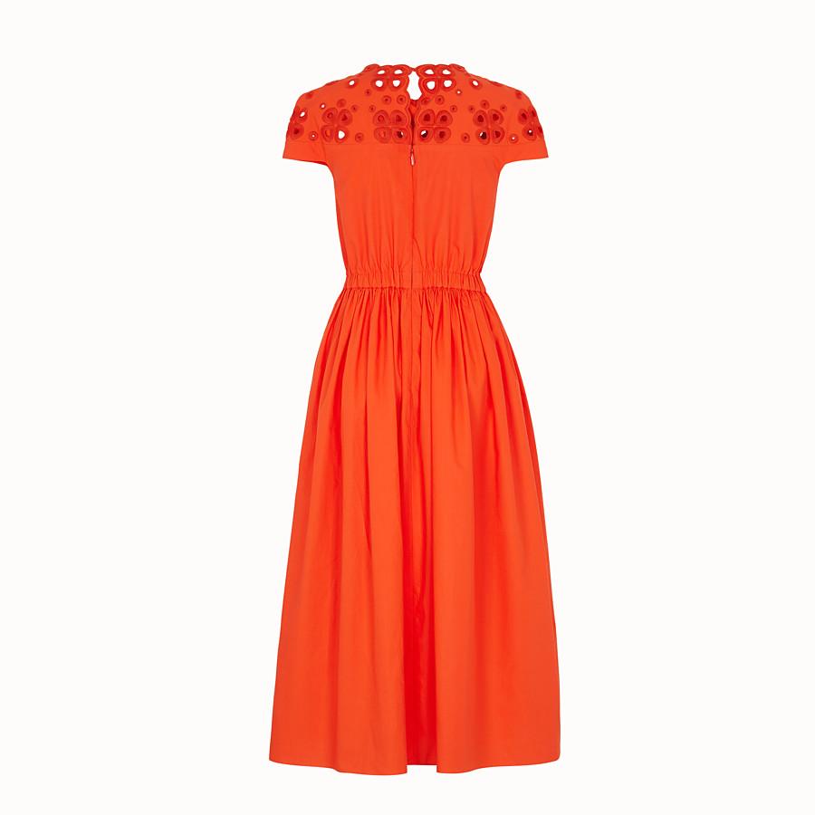 FENDI DRESS - Orange taffeta dress - view 2 detail