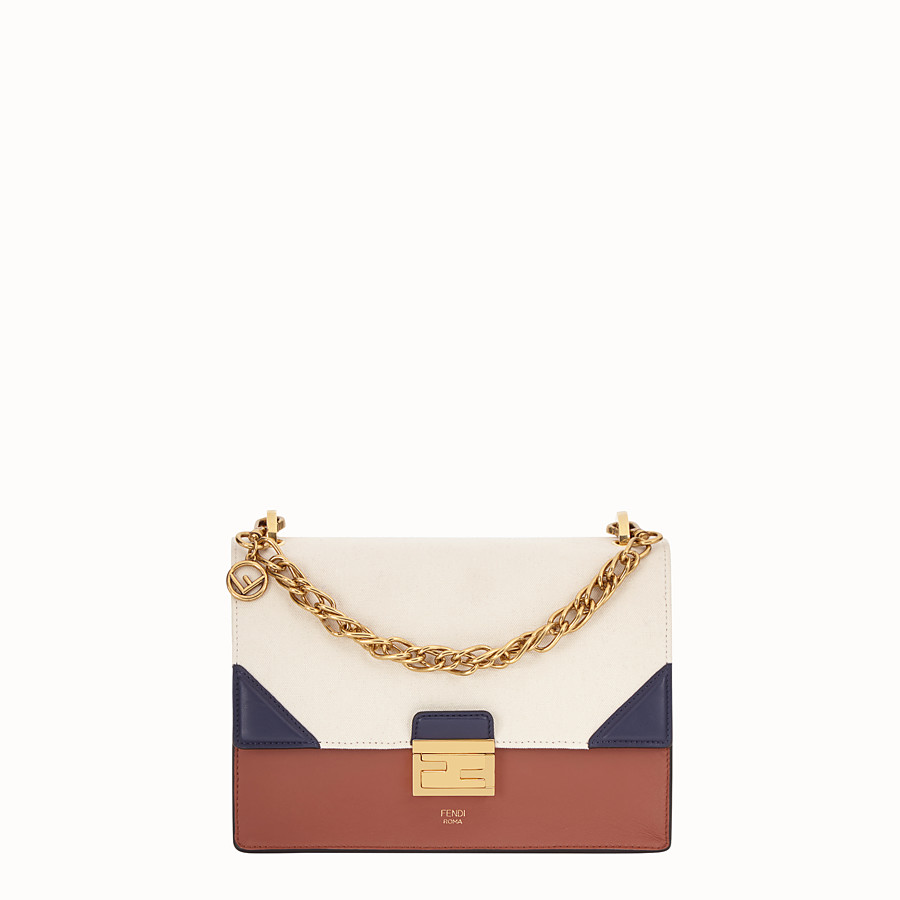 FENDI KAN U - Multicolour canvas and leather bag - view 1 detail