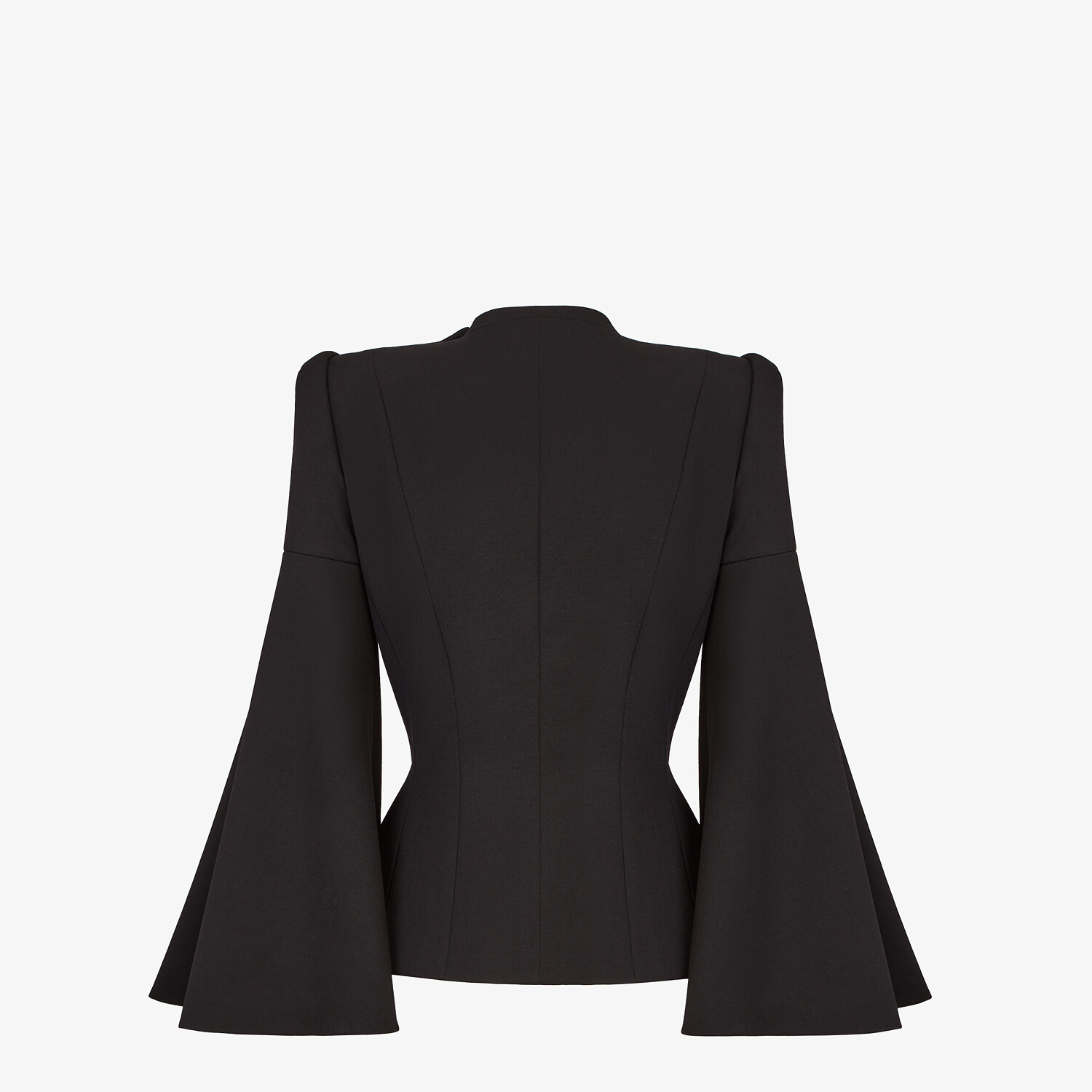 FENDI JACKET - Black silk and wool jacket - view 2 detail