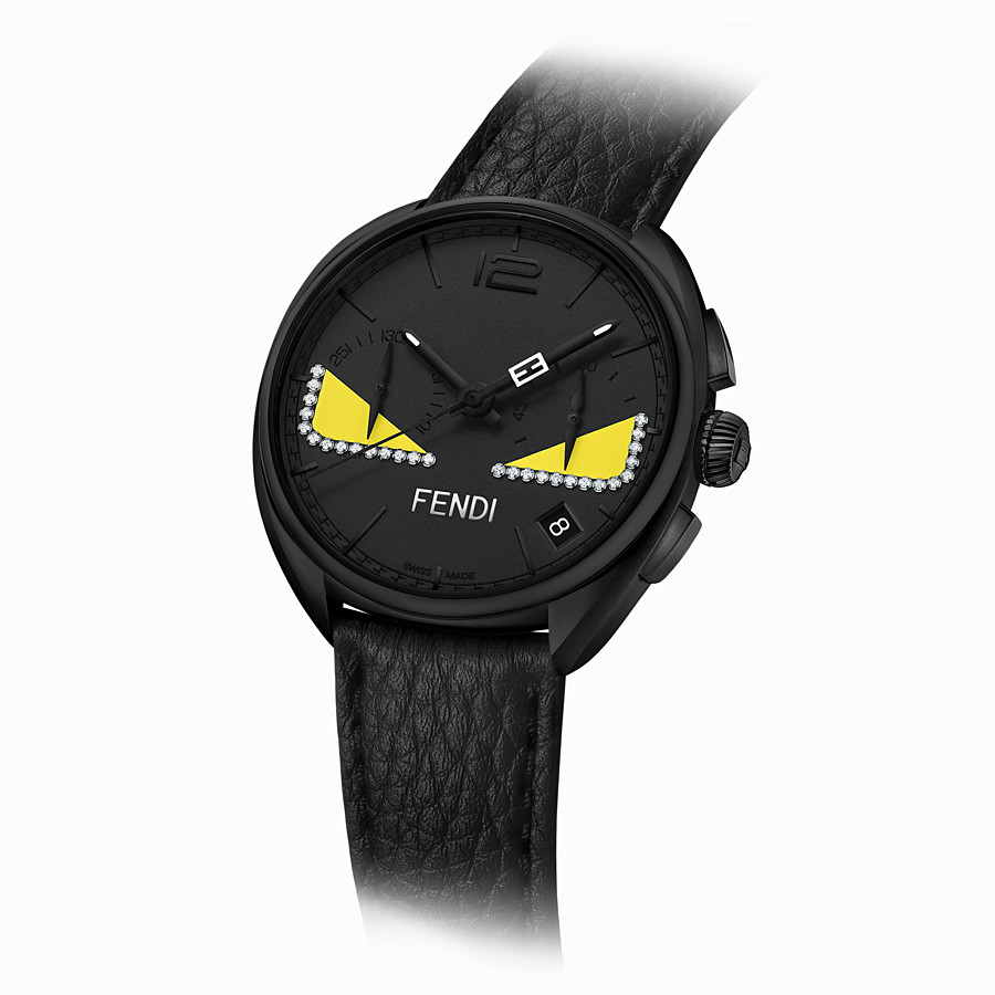 FENDI MOMENTO FENDI BUGS - Chronograph watch with diamonds and strap - view 2 detail