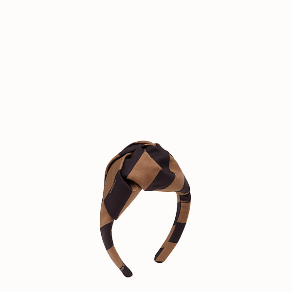 FENDI HAIR BAND - Brown twill hair band - view 1 small thumbnail
