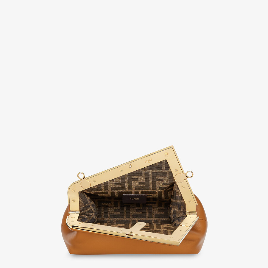 FENDI FENDI FIRST SMALL - Brown leather bag - view 4 detail