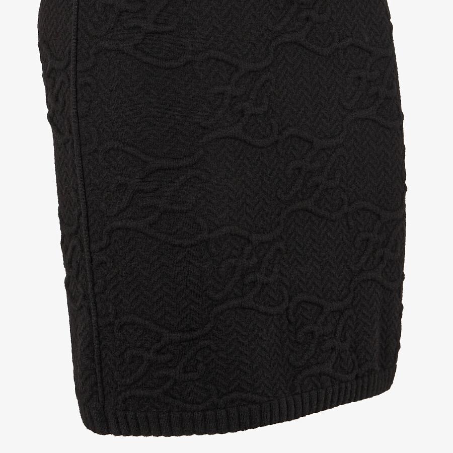 FENDI DRESS - Black wool and cashmere dress - view 3 detail