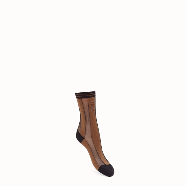 FENDI SOCKS - Black nylon socks - view 1 small thumbnail