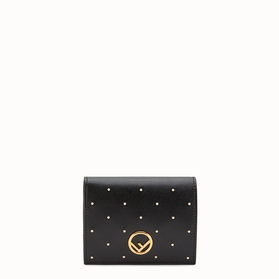 FENDI BIFOLD - Black leather compact wallet - view 1 detail