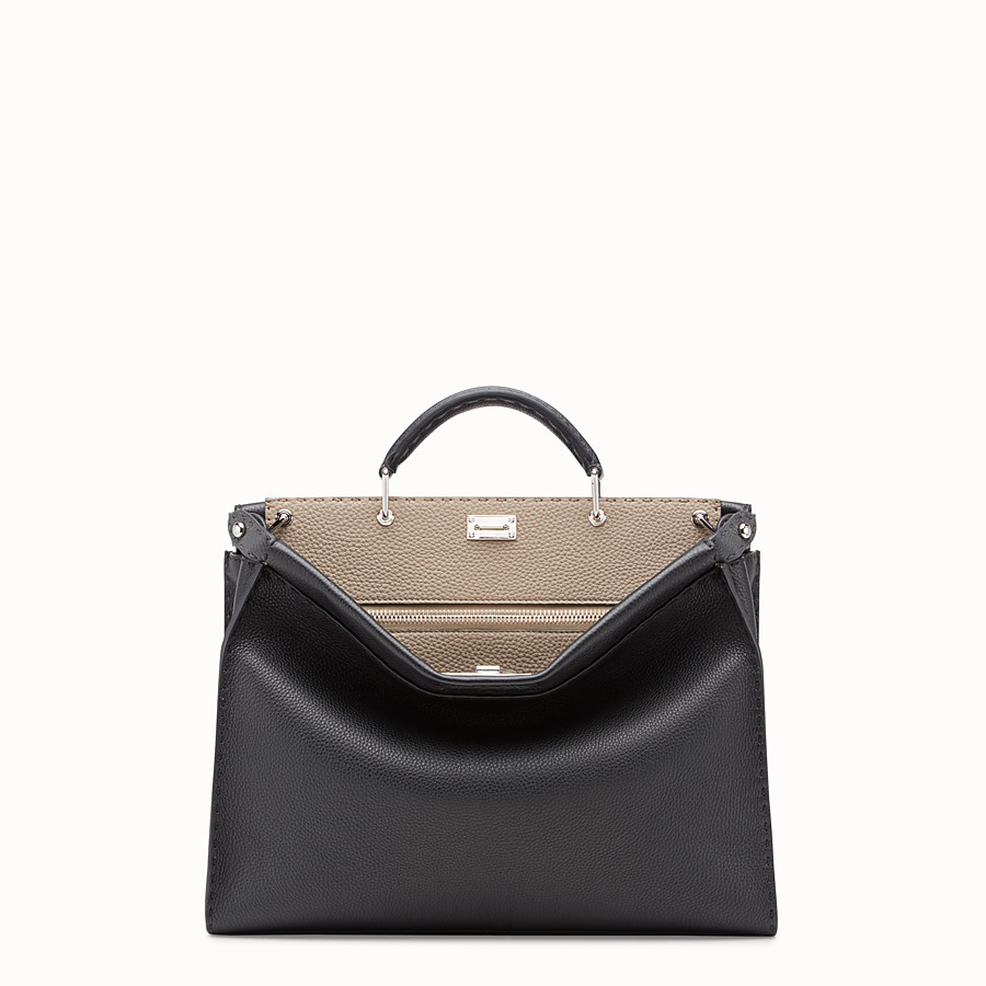 FENDI PEEKABOO FIT - Black leather bag - view 1 detail