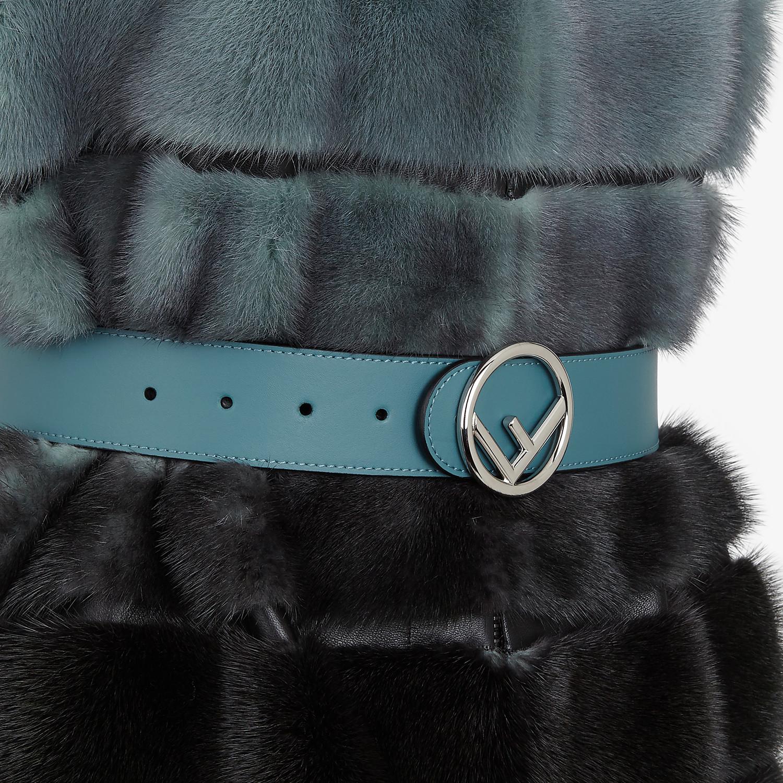 FENDI VEST - Pale blue mink vest - view 3 detail