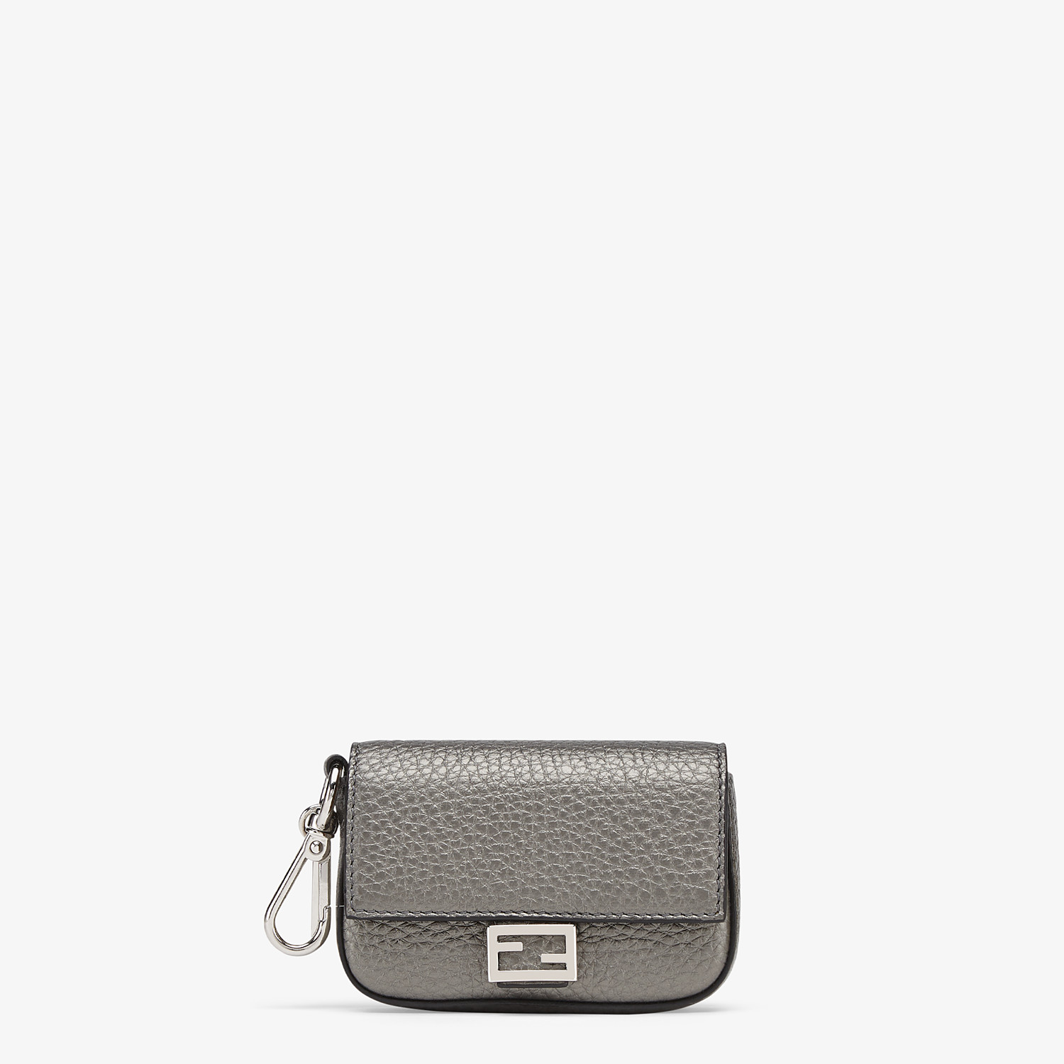 FENDI NANO BAGUETTE CHARM - Gray leather charm - view 1 detail