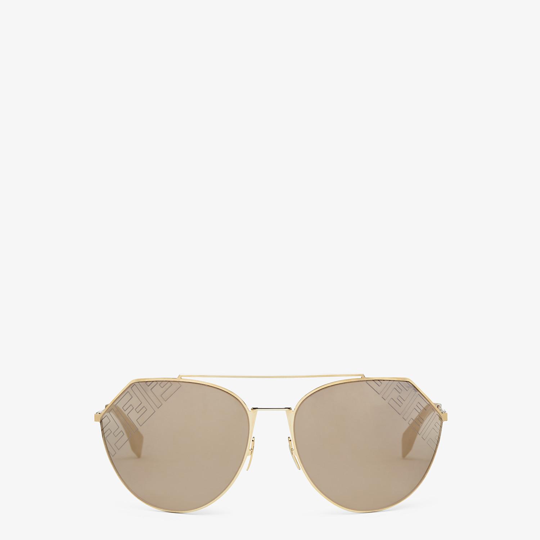 FENDI EYELINE 2.0 - Beige and gold sunglasses - view 1 detail