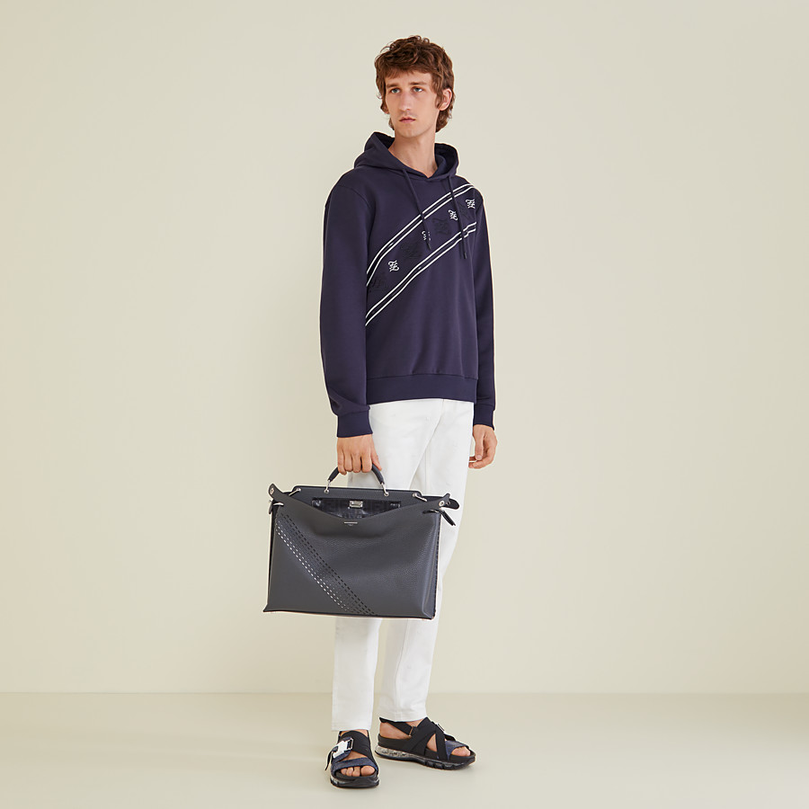FENDI SWEATSHIRT - Sweatshirt aus Jersey in Blau - view 4 detail