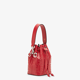 FENDI MON TRESOR - Mini-Tasche aus Leder in Rot - view 3 thumbnail