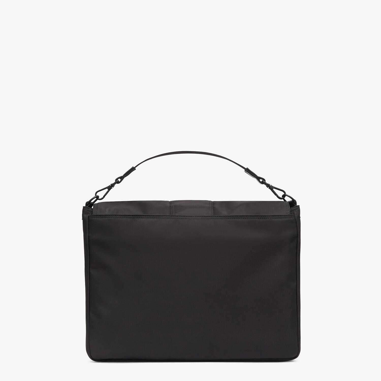 FENDI BAGUETTE MESSENGER BAG LARGE - Black nylon bag - view 3 detail