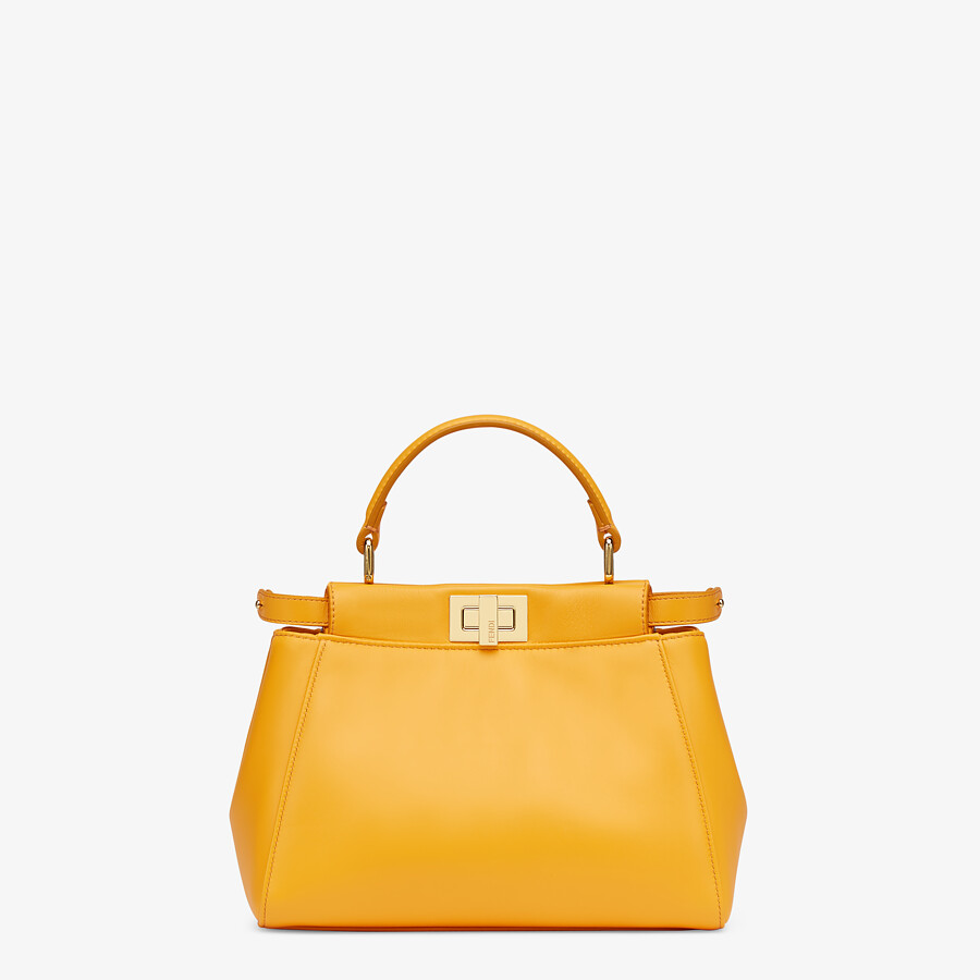 FENDI PEEKABOO ICONIC MINI - Orange nappa leather bag - view 1 detail