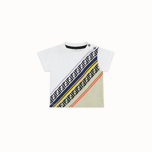 FENDI T-SHIRT - Multicolour jersey T-shirt - view 1 small thumbnail