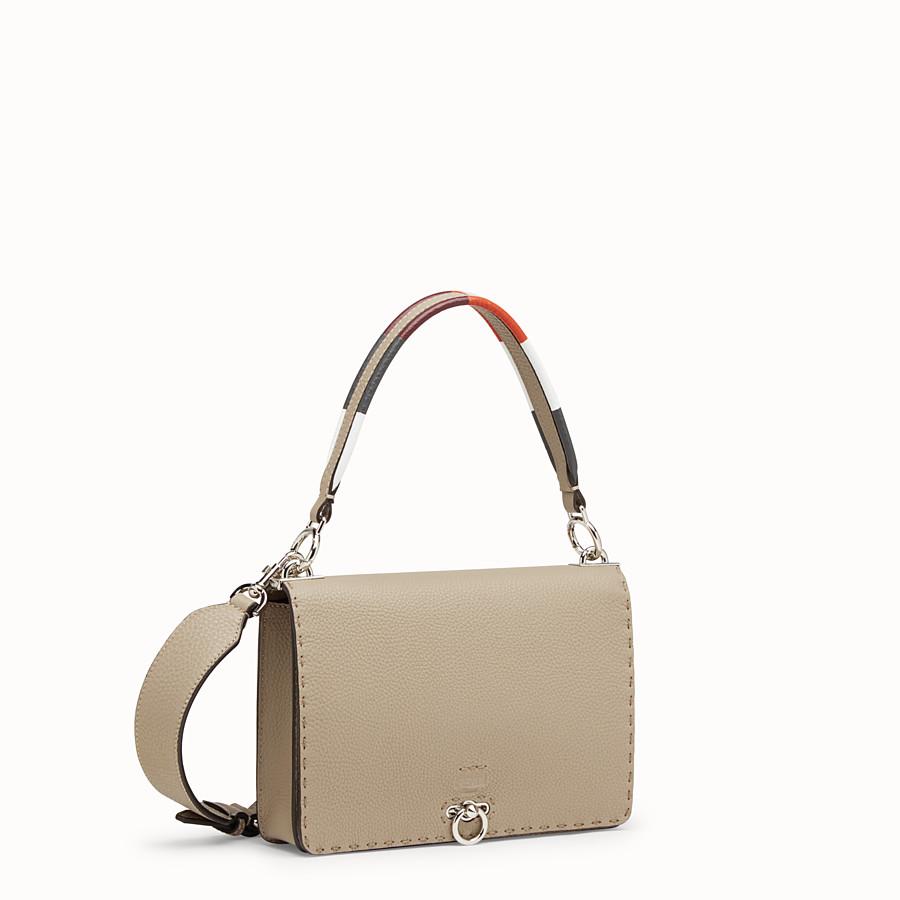 FENDI MESSENGER - Beige leather bag - view 2 detail