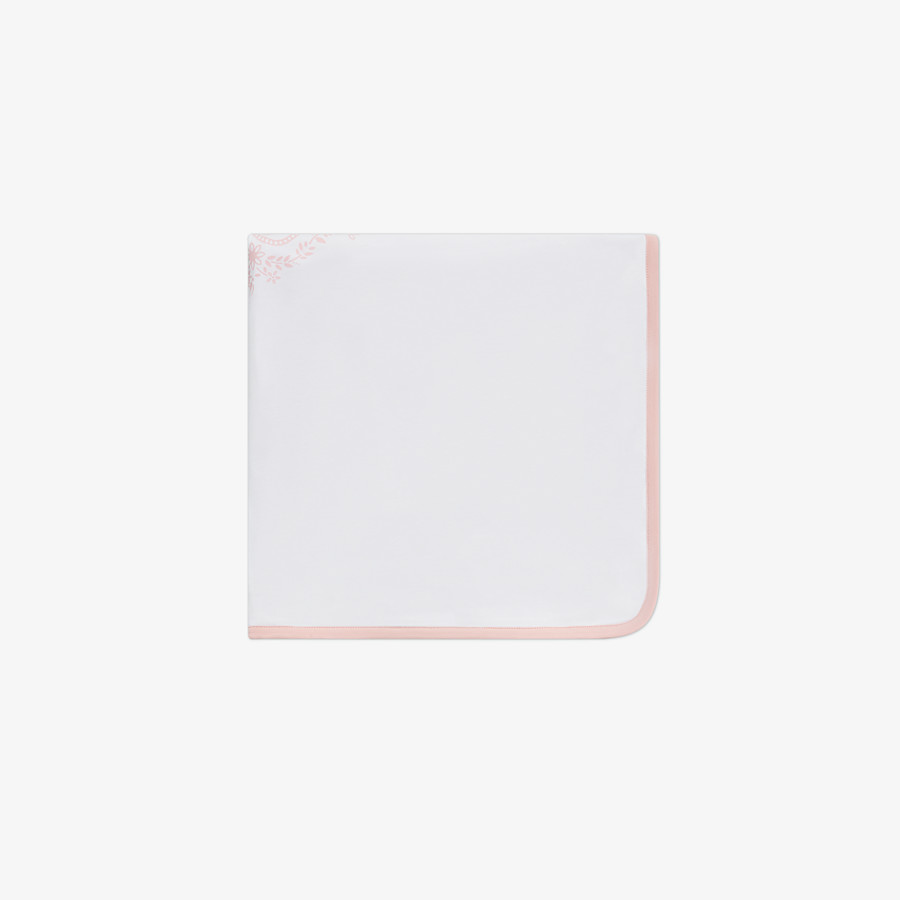 FENDI BLANKET - White and pink jersey blanket - view 1 detail
