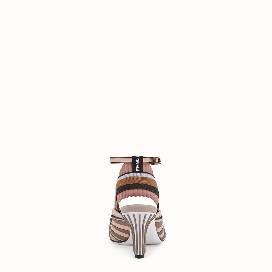 FENDI SANDALS - Sandals in pink technical mesh - view 3 detail