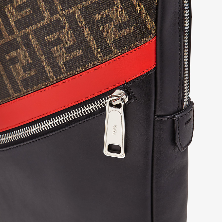 FENDI BELT BAG - One-shoulder backpack in brown fabric - view 5 detail