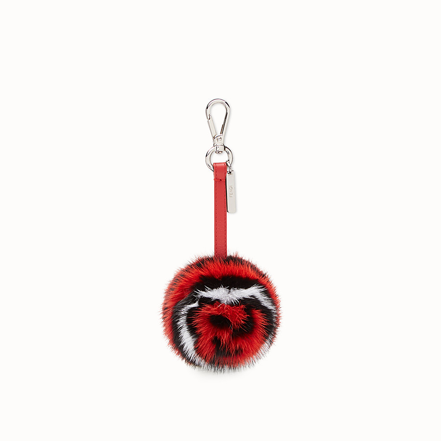 FENDI BOCCIA CHARM - Multicolour mink charm - view 1 detail