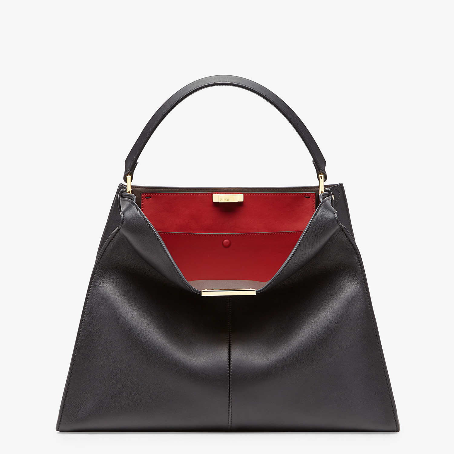 FENDI PEEKABOO X-LITE LARGE - Black leather bag - view 2 detail