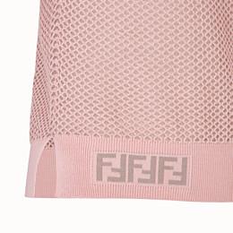 FENDI PULLOVER - Pullover aus Netzgewebe in Rosa - view 3 thumbnail