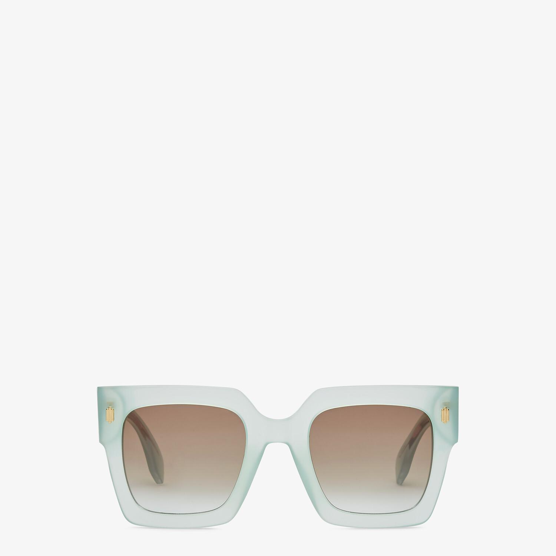 FENDI FENDI ROMA - Green acetate sunglasses - view 1 detail