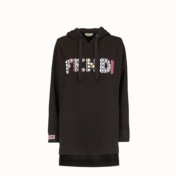 FENDI SWEAT-SHIRT - Sweat-shirt long en coton noir - view 1 small thumbnail