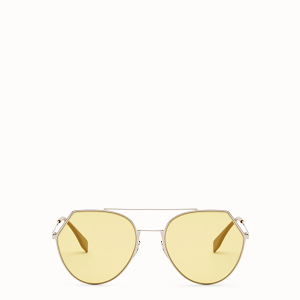 FENDI EYELINE - Silver-colour sunglasses - view 1 small thumbnail