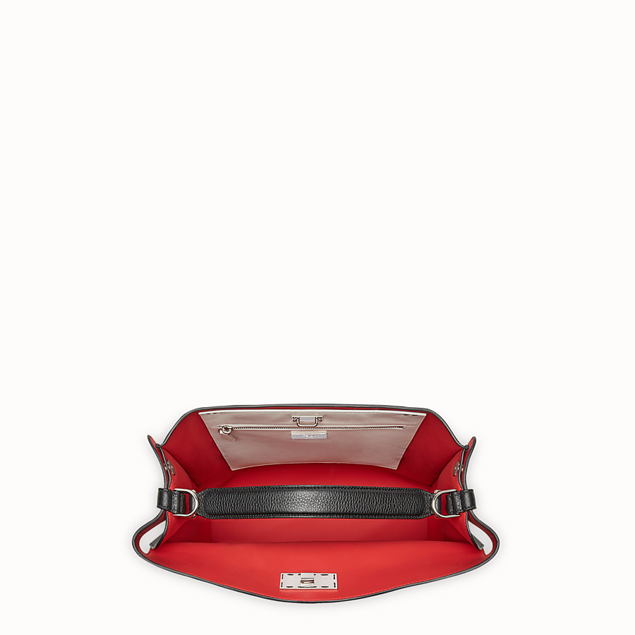 FENDI PEEKABOO X-LITE FIT - Black leather bag - view 5 detail