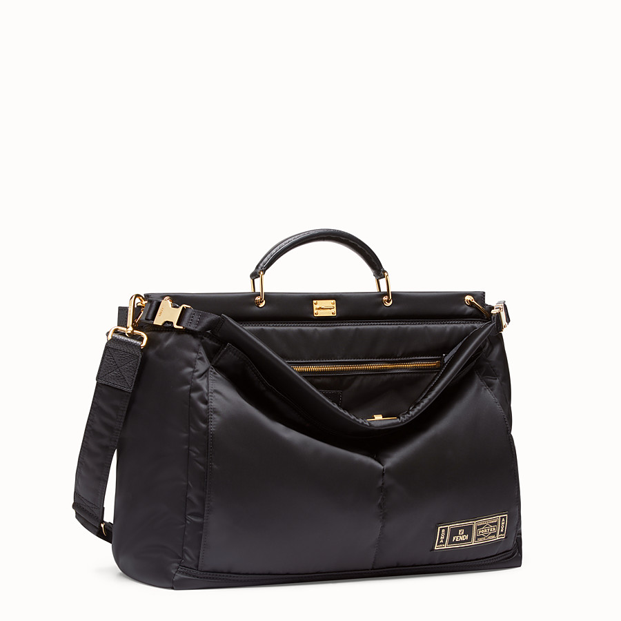 FENDI PEEKABOO MEDIUM FENDI AND PORTER - Black nylon bag - view 2 detail