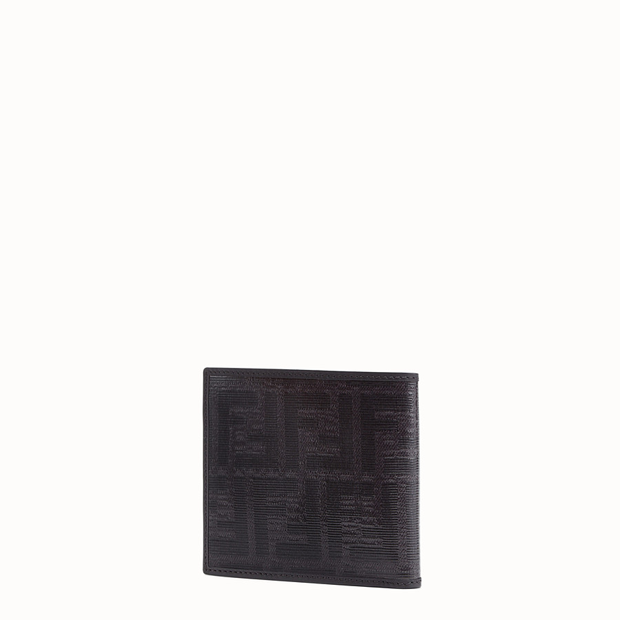 FENDI WALLET - Black fabric bi-fold - view 2 detail