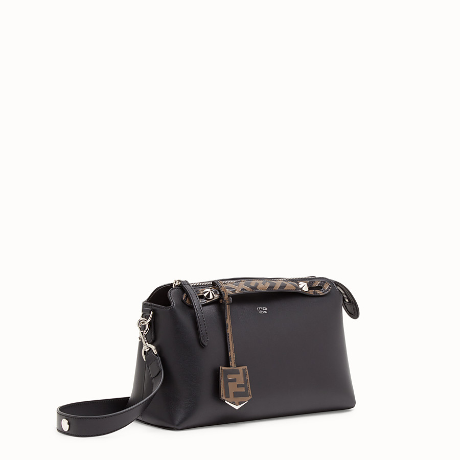 FENDI BY THE WAY REGULAR - Black leather Boston bag - view 2 detail