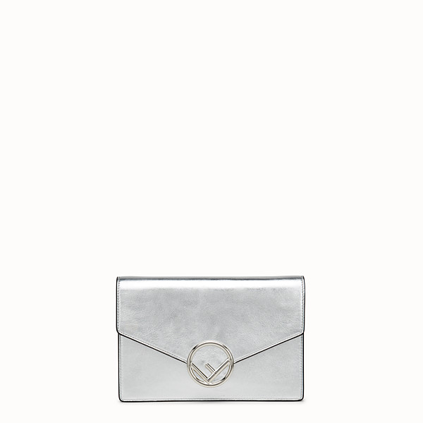 FENDI WALLET ON CHAIN - Silver leather mini-bag - view 1 small thumbnail