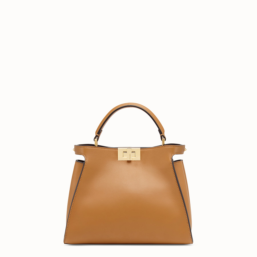 FENDI PEEKABOO ESSENTIALLY - Brown leather bag - view 1 detail