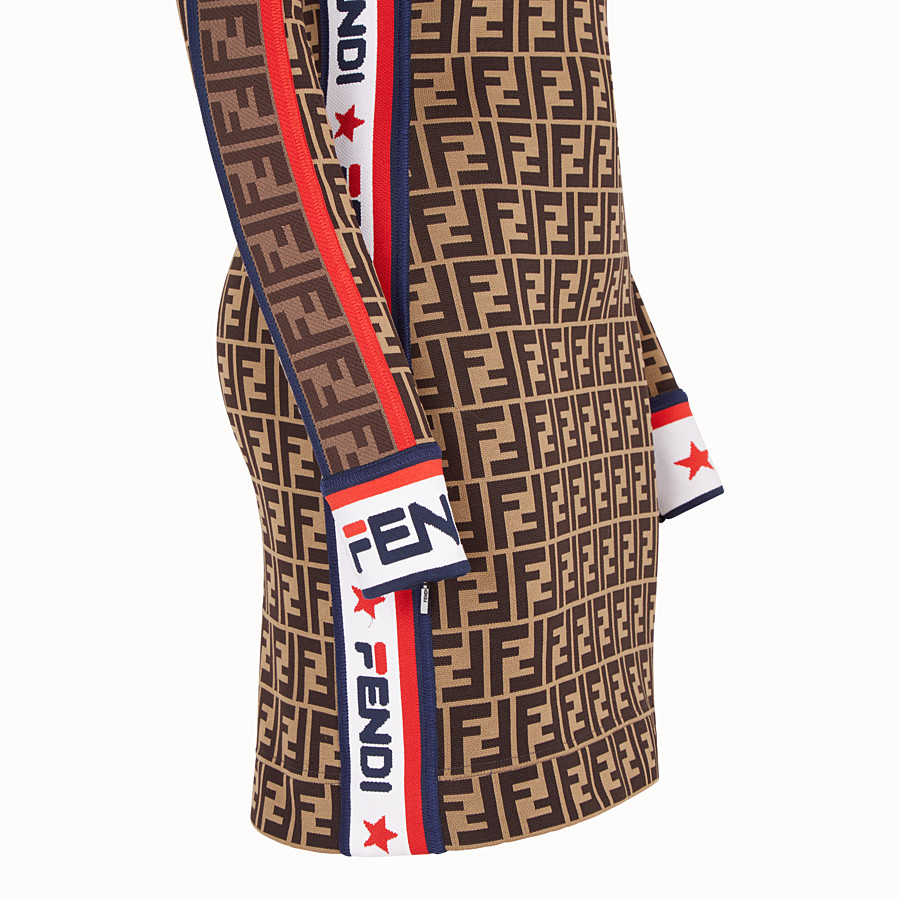 FENDI SHORT DRESS - Multicolour cotton jersey dress - view 3 detail