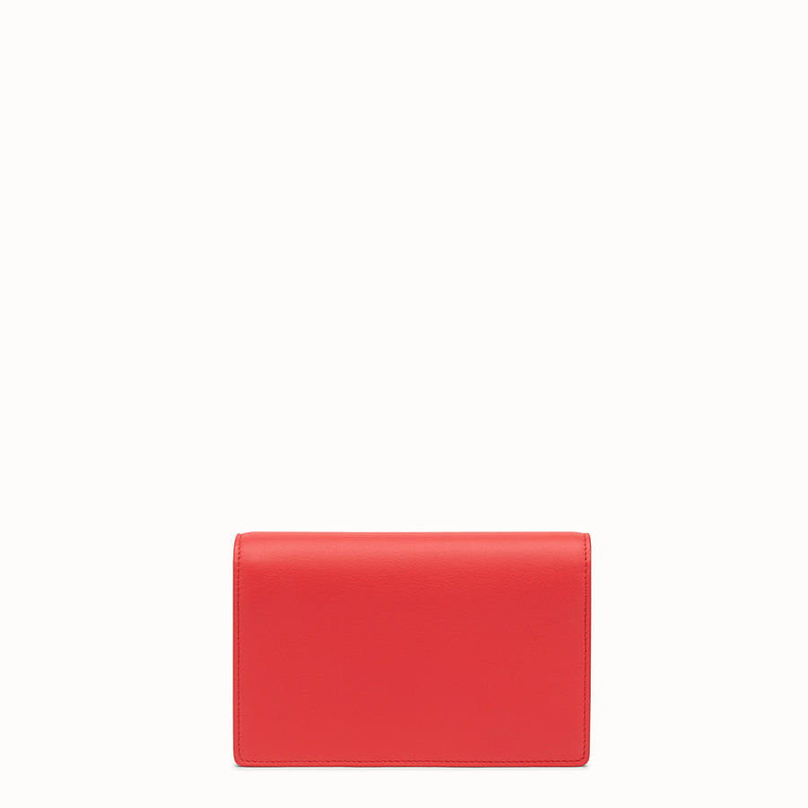 FENDI WALLET ON CHAIN - Red leather mini-bag - view 3 detail